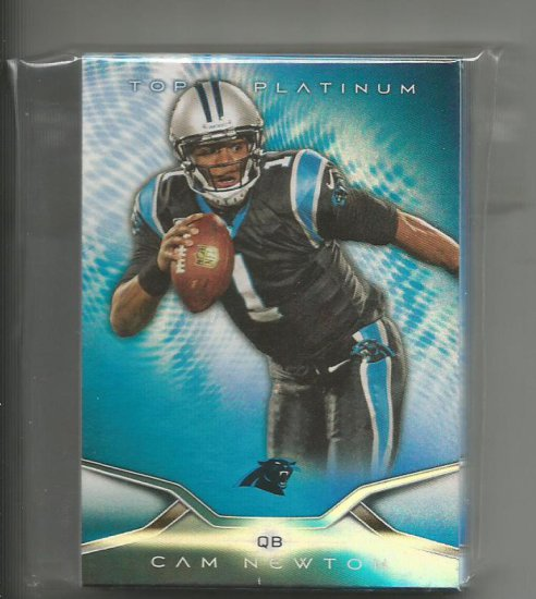 36 COUNT LOT OF 2014 TOPPS PLATINUM FOOTBALL BLUE REFRACTORS