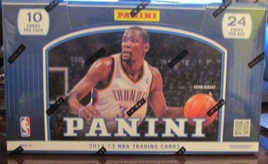 2012-13 PANINI BASKETBALL SEALED HOBBY WAX BOX. 2 AUTOGRAPHS PER BOX