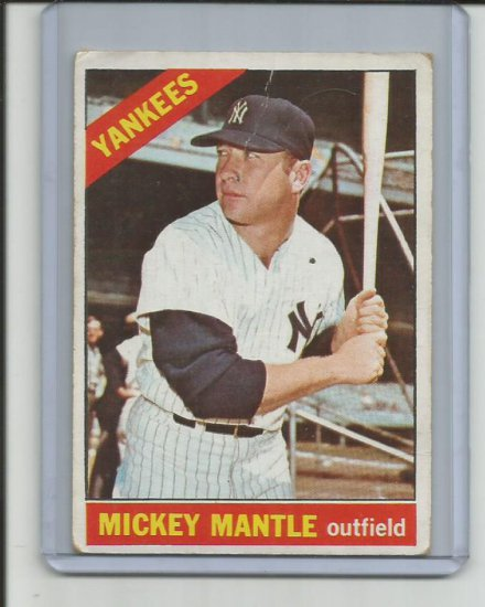 MICKEY MANTLE 1966 TOPPS #50
