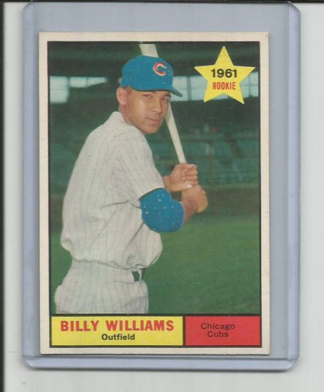 BILLY WILLIAMS 1961 TOPPS ROOKIE CARD