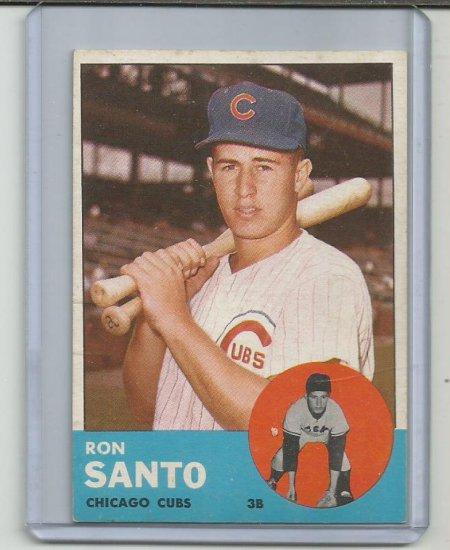 RON SANTO 1963 TOPPS #252