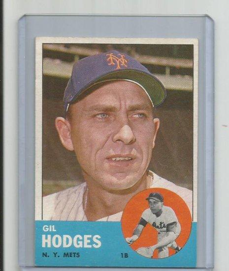 GIL HODGES 1963 TOPPS #245