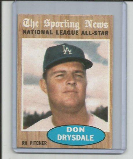 DON DRYSDALE 1962 TOPPS #398