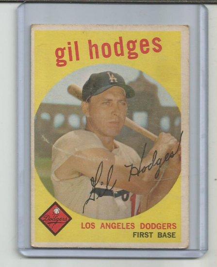GIL HODGES 1959 TOPPS #270