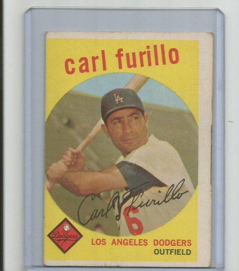 CARL FURILLO 1959 TOPPS #206