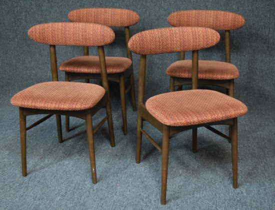 4 Mid Century Dining Room Chairs