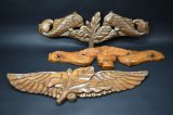 3 Hand Carved Wooden Wall Hanging's
