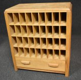 Solid Oak Mail Sorter