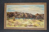 Vintage Framed Artist Signed Acrylic Painting