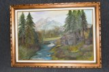 Vintage Framed Artist Signed Oil Painting
