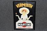 Framed Martini & Rossi Poster