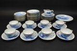 42pc Fukagawa Tea Set