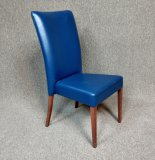 Modern Blue Leather Chair