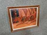 Vintage Artist Signed Framed Oil Painting