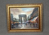 Large Artist Signed Framed Oil Painting