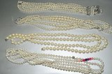 LOT Of Costume Pearl Necklaces