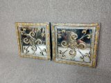 2 Metal Decorative Mirrors