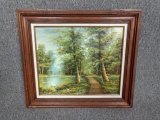 Framed Oil Painting
