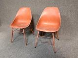 2 Mid Century Fiberglass Chairs