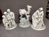 3 Large Nativity Scene Statues