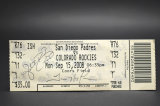 Autographed San Diego Padres Ticket