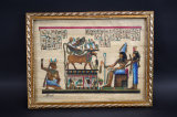 Framed Egyptian Papyrus Painting
