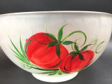 Hand Painted Glass Salad Bowl