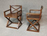 2 Wooden Captains Arm Chairs