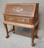 Hand Carved Drop Font Writing Desk