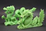 2 Resin Dragon Sculptures