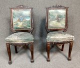 2 Antique Hand Carved Chairs