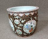 Large Hand Painted Porcelain Planter