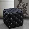 NEW Divani Casa Black Leather Ottoman