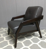 Divani Casa Amory Modern Dark Brown Leather Chair