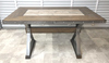 NEW Rustic Steel And Wood Bar High Table