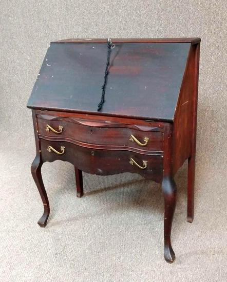 Antique Drop Front Secretary Desk >> Antique Drop Front Secretary D Auctions Online Proxibid