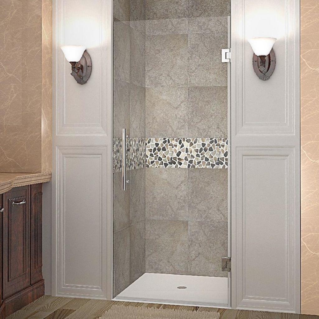 NEW Aston Cascadia 36 in. x 72 in. Completely Frameless Hinged Shower Door