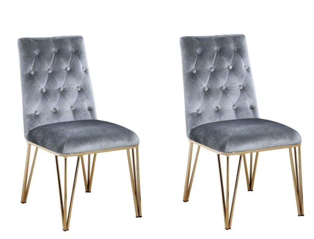 2 NEW Everly Quinn Singleton Upholstered Dining Chairs