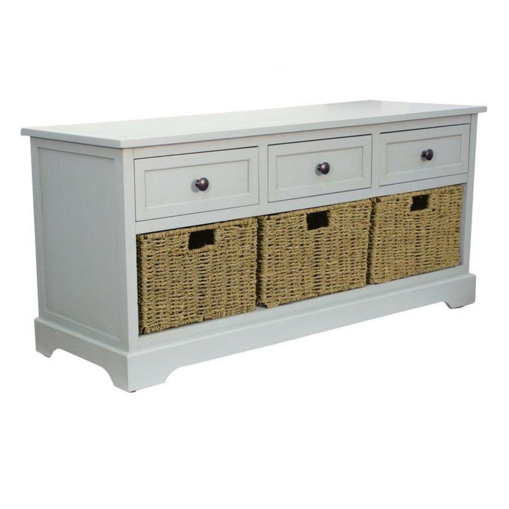 NEW Beachcrest Home Ardina Wood Storage Bench