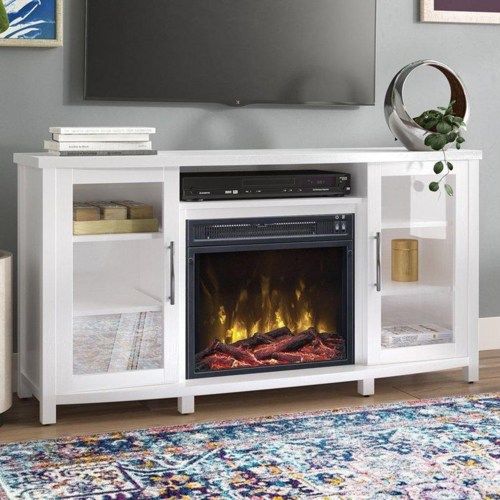 """NEW Zipcode Design TV Stand for TVs up to 60"""" with Fireplace"""