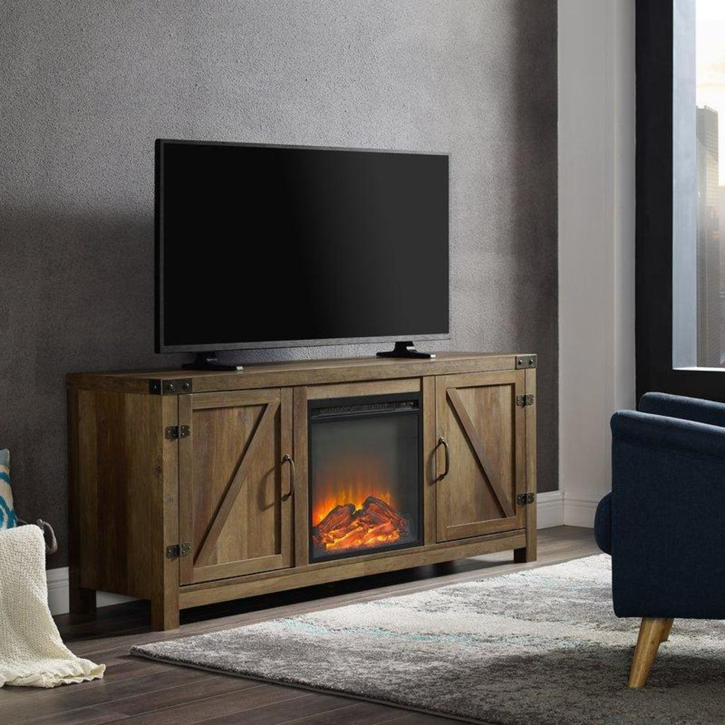 NEW Trent Austin Design Adalberto TV Stand for TVs up to 65in with Optional Fireplace