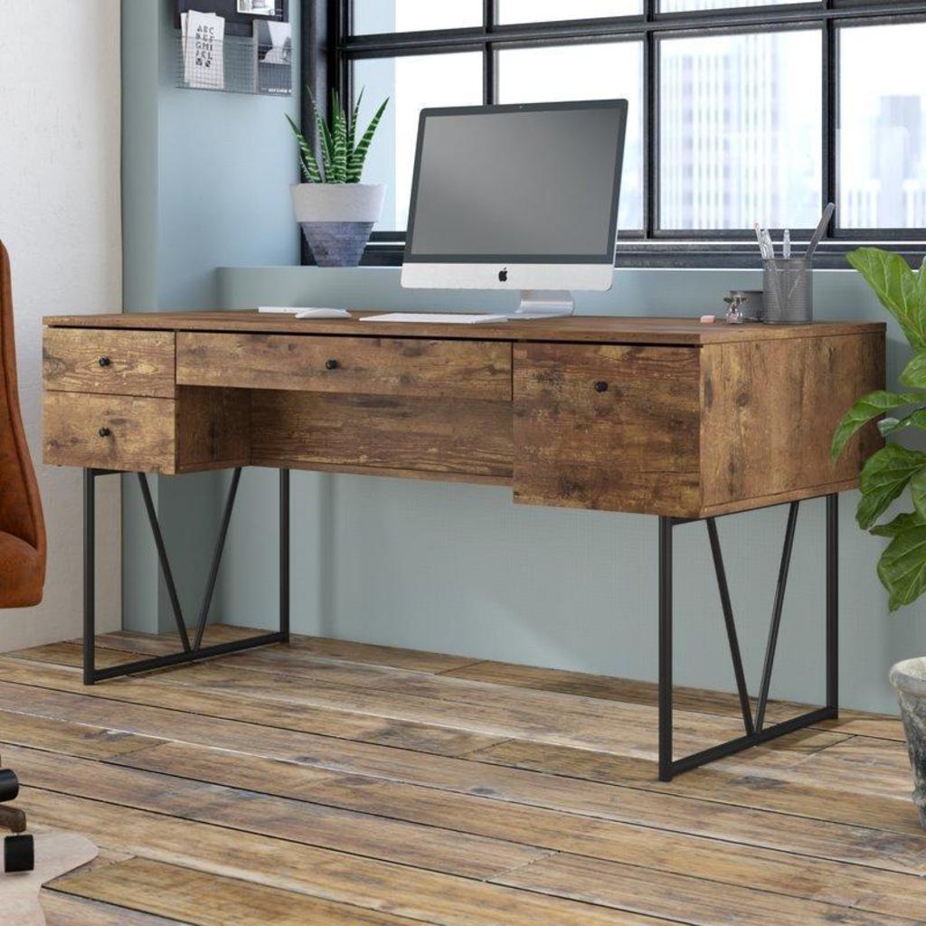 NEW Trent Austin Design Granite 4 Drawers Writing Desk