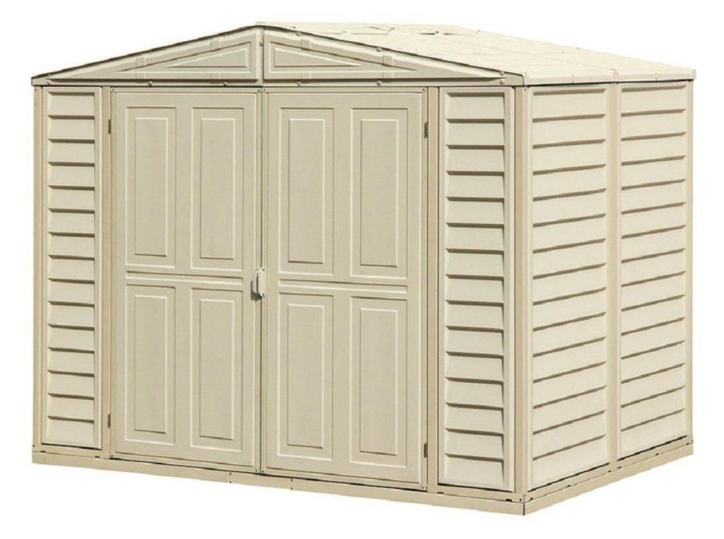 NEW DuraMate 7 ft. 10 in. W x 5 ft. 3 in. D Plastic Storage Shed