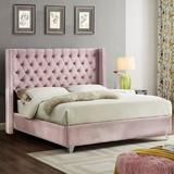 NEW Everly Quinn Pink Inverness Queen Size Upholstered Platform Bed