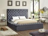NEW Everly Quinn King Size Ruthann Upholstered Storage Platform Bed