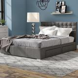 NEW Latitude Run King Size Myrrine Upholstered Storage Platform Bed