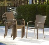 6 NEW Highland Dunes Edwards Patio Chairs With Cushions