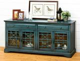 NEW Mistana Antique Blue Daisi TV Stand for TVs up to 70in