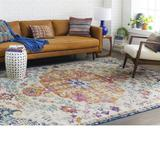 NEW Mistana Hillsby Blue/Orange Area Rug
