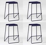 4 NEW Navy Project 62 Frey Metal Barstools